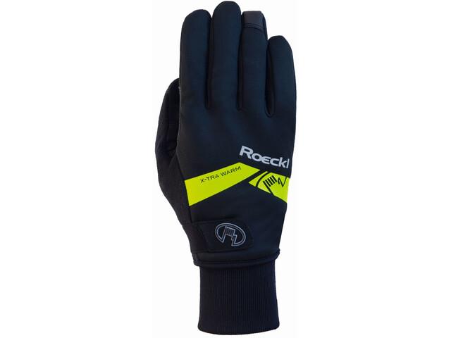 Roeckl Villach Handschoenen, black/yellow